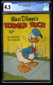 Four Color Comics #4 CGC VG+ 4.5 1st Print 1940 Early Donald Duck!