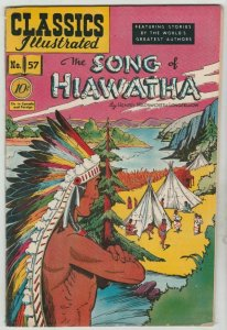 Classics Illustrated #57 (Sep-56) VF High-Grade Hiawatha