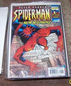 PETER PARKER SPIDER-MAN  comic # 1 , marvel THE NEW BEGINING 1999