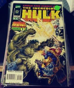 incredible hulk  # 444 1996  MARVEL ONSLAUGHT IMPACT 1 CABLE STORM XMEN