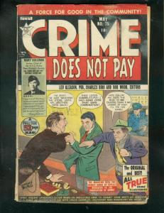 CRIME DOES NOT PAY #75 1949-CHAS BIRO-PRE CODE VIOLENCE G
