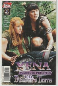Xena the Dragon Teeth Signed #1 (Dec-97) NM Super-High-Grade Xena Warrior Pri...