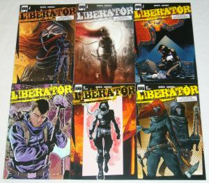 Liberator #1-4 VF/NM complete series + 2 variants - black mask young terrorists