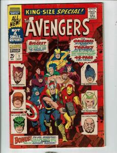 Avengers King Size Special # 1 FN Marvel Comic Book Hulk Thor Iron Man Wasp FH1