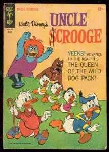 UNCLE SCROOGE #62 1966-WALT DISNEY-GOLD KEY COMIC BARKS VG