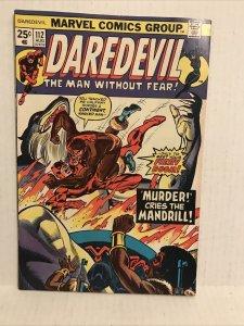 Daredevil #112 (mandrill, Black widow Appearance)