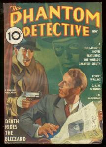 PHANTOM DETECTIVE NOV 1936 DEATH RIDES THE BLIZZARD FN