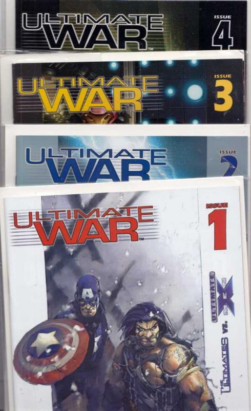 The Ultimate War Set 1-4 #1to4 (Feb-09) NM Super-High-Grade The Avengers, X-Men