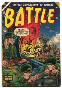 Battle #33 1954- Atlas Korean War comic G/VG