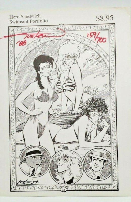 Chuck Austen Hero Sandwich Swimsuit Art Portfolio  Autographed   159/700   NM/NM