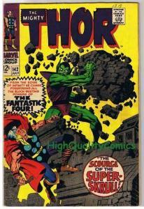 THOR #142, FN+, Jack Kirby, Stan Lee, Super Skrull,1966,  (b) , Scrouge