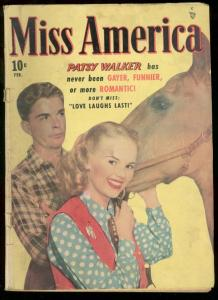 MISS AMERICA V.7 #19 1949 PATSY WALKER PHOTO COVER G/VG