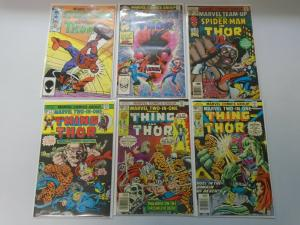 Marvel Team-Up 6 different issues featuring Thor average 7.0 FN/VF