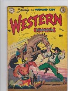 Western Comics 8 VG/FN Alex Toth Sheldon Mayer (Apr. 1949)