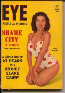 Eye 5/1954-exploitation-cheesecake-Tita Moreno-Mara Corday cover-VG+
