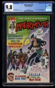 Motormouth #1 CGC NM/M 9.8 White Pages 1st Harley Davis!