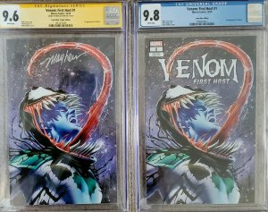 Venom First Host #1 signed by Mike Mayhew CGC 9.6 EXCLUSIVE variant cover NYCC