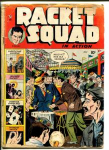 RACKET SQUAD IN ACTION #1 1952-CHARLTON-1ST ISSUE-CON GAMES-SWINDLES-GIORDANO-fr