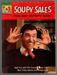 Soupy Sales Fun & Activity Book #8907 1965-photo cover-puzzles-games-VG