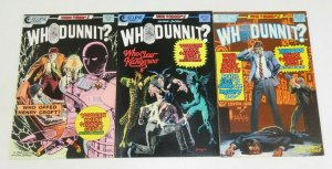 Whodunnit? #1-3 complete murder mystery comics CAN YOU FIGURE IT OUT eclipse set