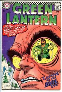 GREEN LANTERN #53 1967-EVIL EYE COVER-GIL KANE VG