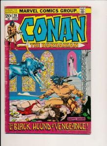 CONAN The Barbarian #20 ~ Marvel Comics Group 1972 ~ VG (PF410)
