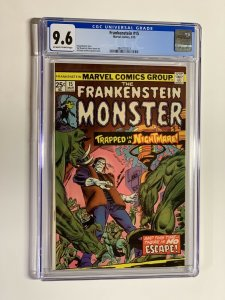 Frankenstein 15 CGC 9.6 off-white to white pages Marvel Bronze Age