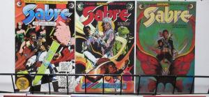 Sabre (Eclipse 1982-83) #3-5 Hendrix hero SciFi Swashbuckler Kent Williams Cvr