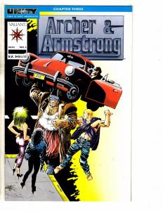 Lot Of 7 Archer & Armstrong Valiant Comic Books # 1 3 (2) 4 5 6 7 F. Miller J257