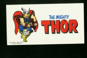 THE MIGHTY THOR BUMPER STICKER 1966-MARVEL COMICS-RARE! VF/NM