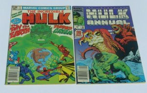 Lot/2 The Incredible Hulk King Size Annual 11,13 VF Comics Iron Man Spider-Man