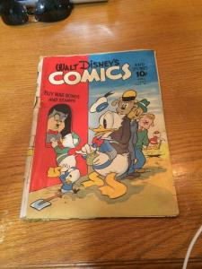 Walt Disneys Comics And Stories 31 Vol 3 7 Poor Con. Cover Detached Complete