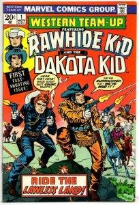 WESTERN TEAM-UP #1, VG/FN, Gunfights, Rawhide Kid Dakata 1973 more Western in st