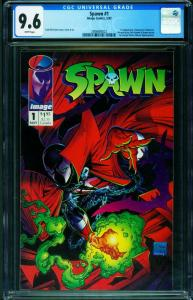 Spawn #1 1992  CGC Graded 9.6 White Pages- 1st issue 2006680022
