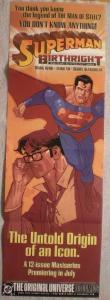SUPERMAN BIRTHRIGHT Promo poster, 11x34, 2003, Unused, more Promos in store
