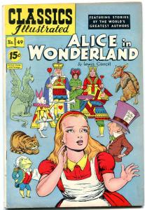 Classics Illustrated Comic #49 HRN 85-Alice in Wonderland- edition 3A F/VF