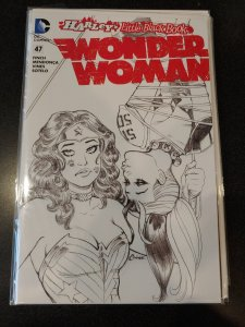 Wonder Woman #47~Harley's Little Black Book~Sketch Variant Cover~NM+