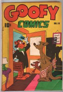Goofy #18 1947-Nedor-crazy funny animals-violent stories-prank cover-VG+