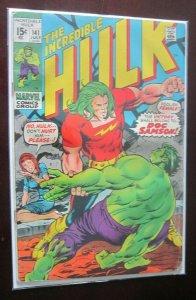 The Incredible Hulk h20 damage #141 3.0 (1971)