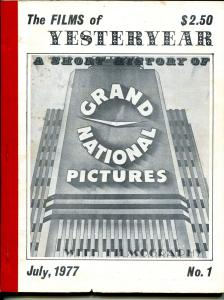 Films of Yesterday #1 7/1977-1st issue-Grand National Pictures-VG