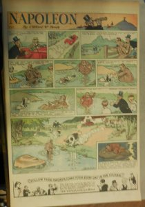 Napoleon the Dog Sunday by Clifford McBride from 4/9/1933 Full Page Size !