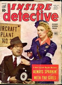 INSIDE DETECTIVE-AUG/1943-TAXI-DANCING KILLERS-MR. DIDDLE-BUMP YOU OFF! P/FR