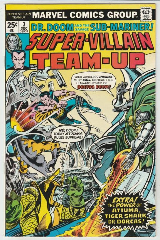 Super-Villain Team-Up #3 (Dec-75) NM+ Super-High-Grade Namor the Sub-Mariner,...