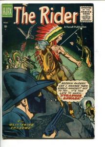 THE RIDER #1-1957-SECRET IDENTITY WESTERN HERO-SOUTHERN STATES-vf