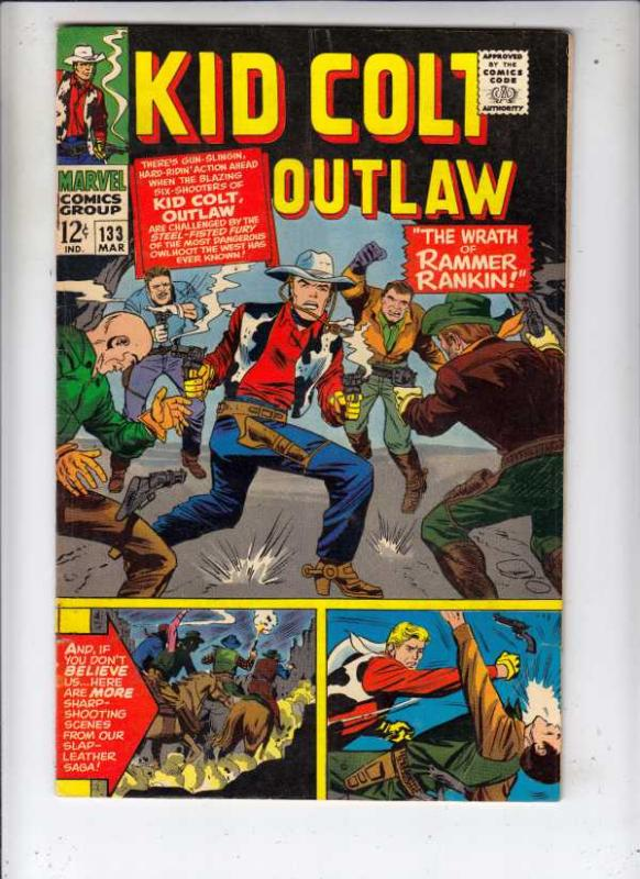 Kid Colt Outlaw #133 (Mar-67) FN/VF+ High-Grade Kid Colt