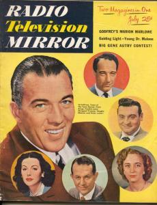 Radio And Television Mirror-Ed Sullivan-Victor Gorge-Hedy Lamarr -July-1951