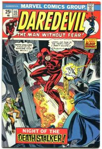 DAREDEVIL #115 1974- ad for Incredible Hulk 181 Wolverine