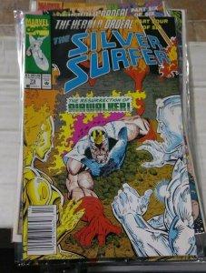 Silver Surfer # 73 1992 Marvel the herald ordeal pt 4 airwalker nova terrax fire