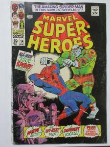 Marvel Super-Heroes 14 (May 1968) Feat. Original Spider-Man Thriller! Good