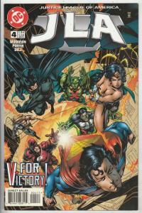 JLA #4 (Apr-97) NM Super-High-Grade Justice League of America